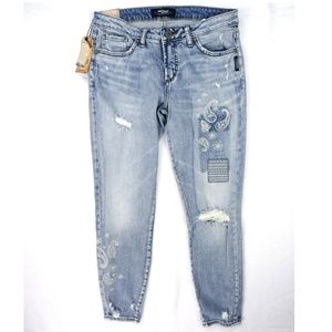 Silver Jeans AIKO Ankle Skinny Jeans 28 L27